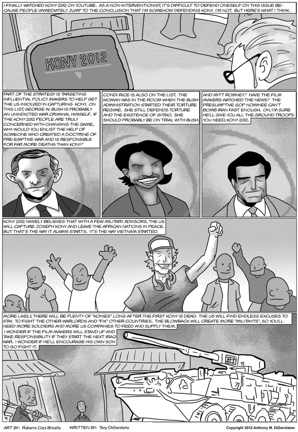 The Antiwar Comic:  In Response to Kony 2012