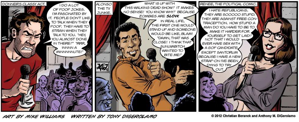 Miserable Comedians:  Three Kinds of Comics