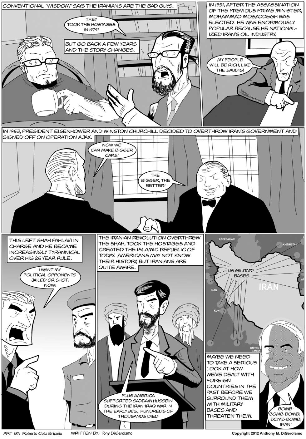 The Antiwar Comic:  What's Wrong With Iran?