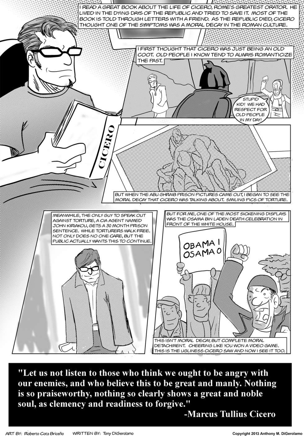The Antiwar Comic:  Cicero's Culture Decay