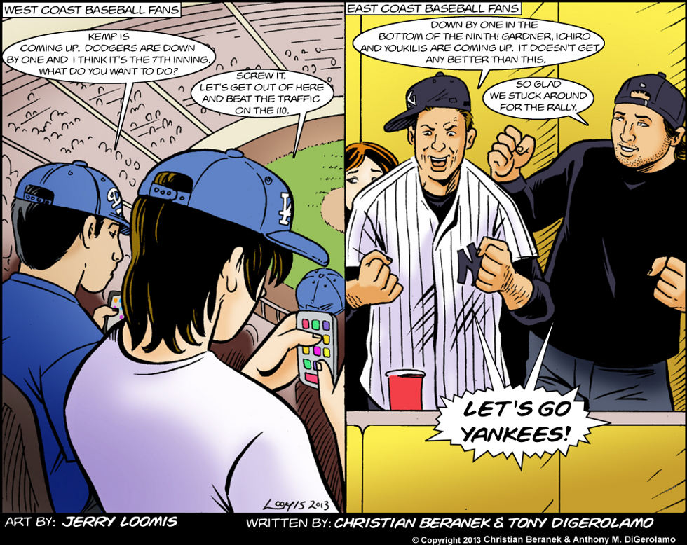 East Coast vs. West Coast: Baseball Fans