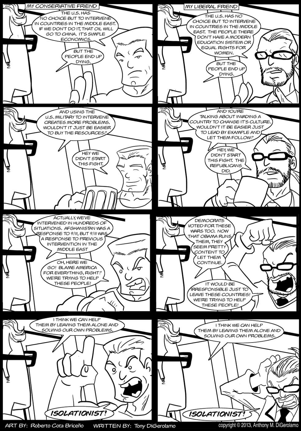 The Antiwar Comic:  Interventionism is Bipartisan