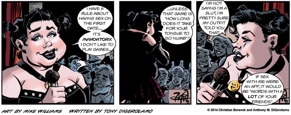 Miserable Comedians:  Pamela One-Liners