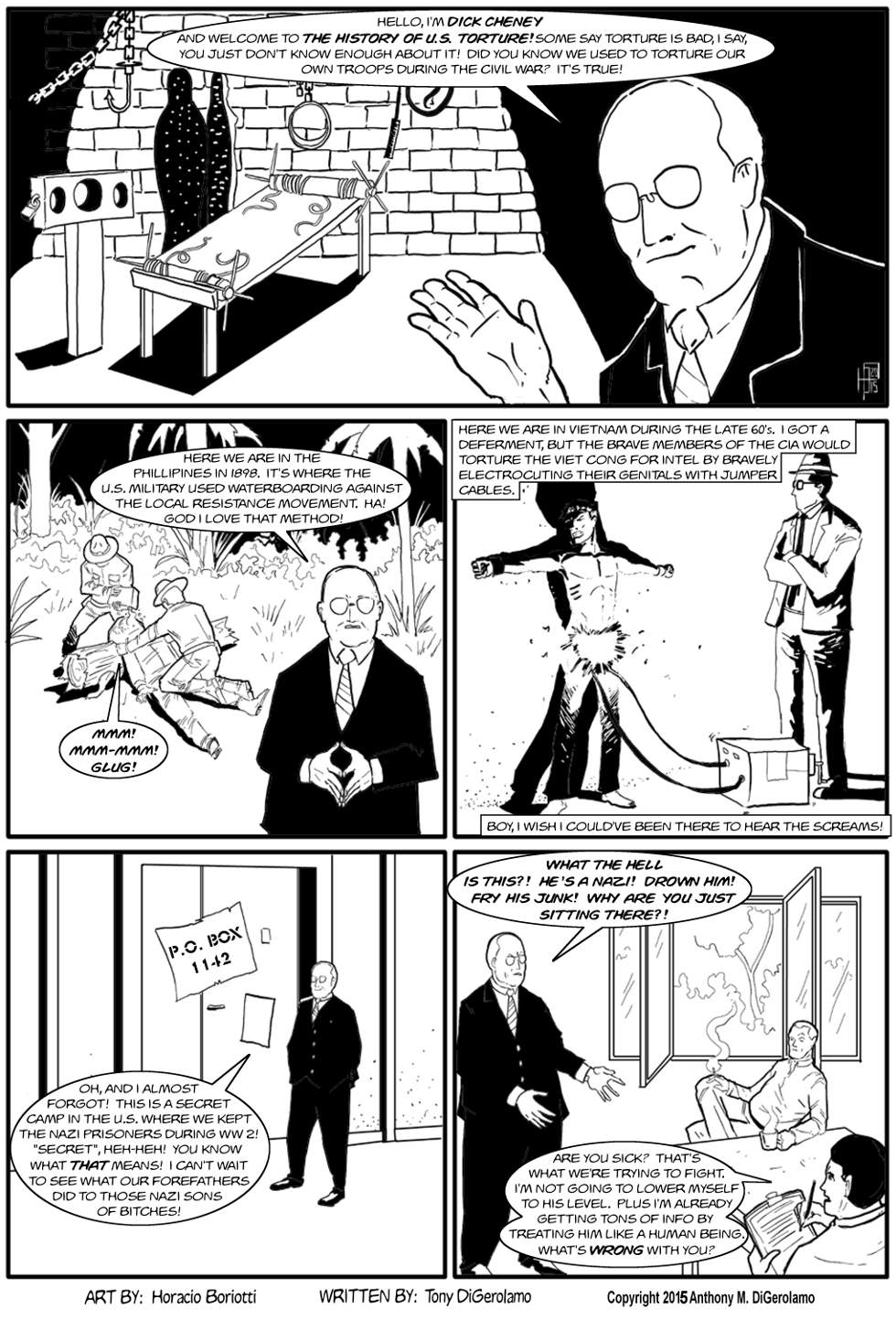 The Antiwar Comic:  The Dick Cheney Torture Special