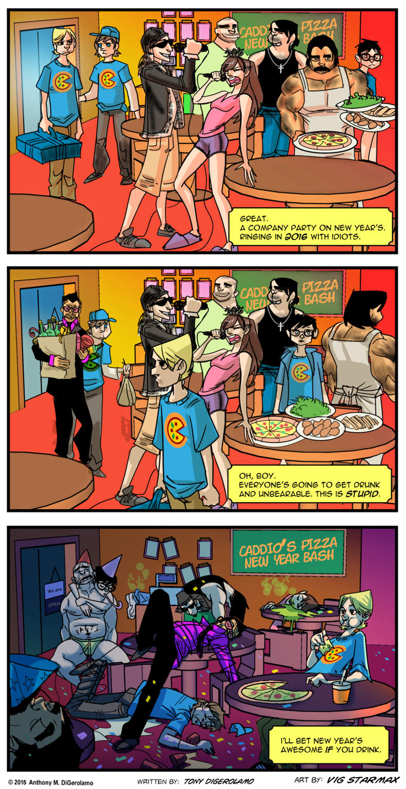 Tales of Pizza:  Watching New Year's
