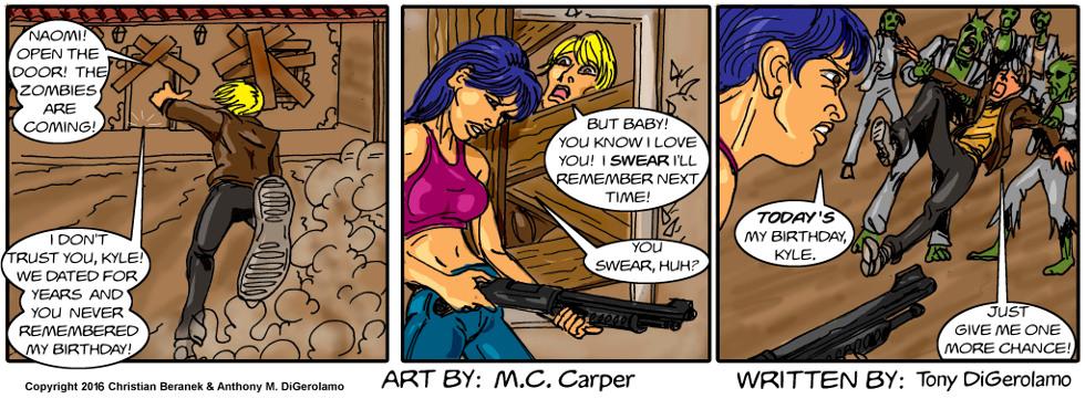 In A Relationship:  Zombie Apocalypse Girlfriend