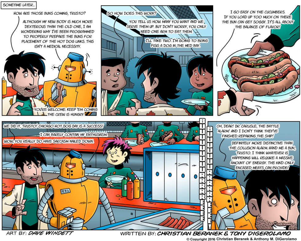 Intergalactic Medical Doctor:  Hot Dogs in Space
