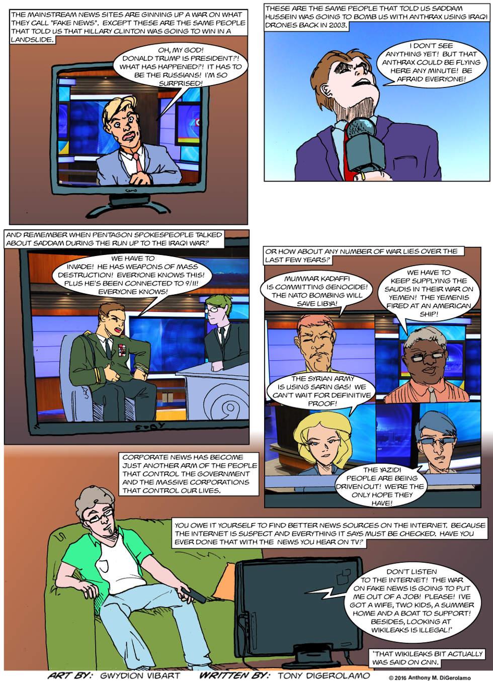 The Antiwar Comic:  The Fake War on Fake News