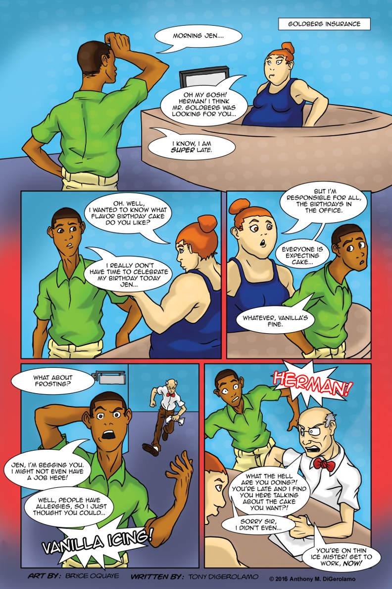 Herman Has Superpowers:  Office Cake