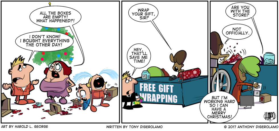 I Hate My Kids:  Freelance Gift Wrappers