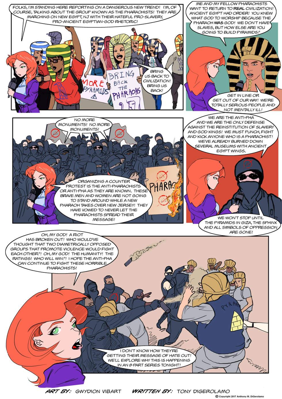 The Antiwar Comic:  Don't Be a Pharaohist!