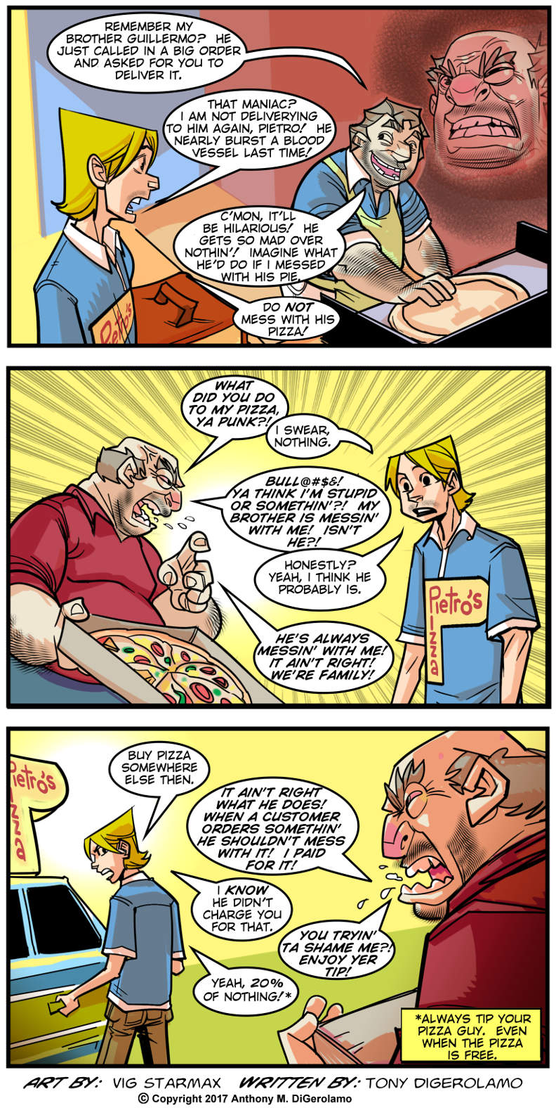 Tales of Pizza:  Blood is Thicker Than Pizza