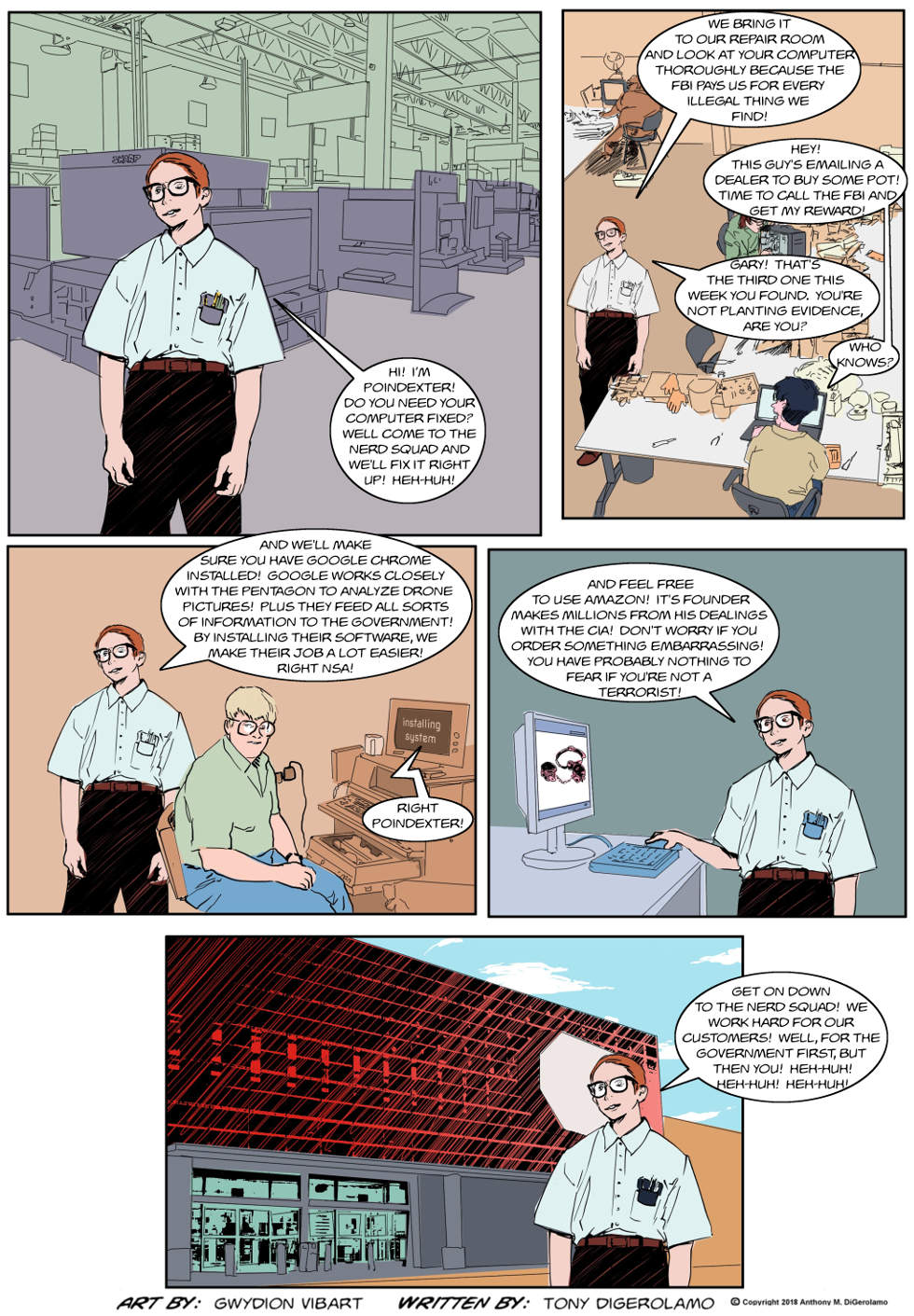 The Antiwar Comic:  The Nerd Squad