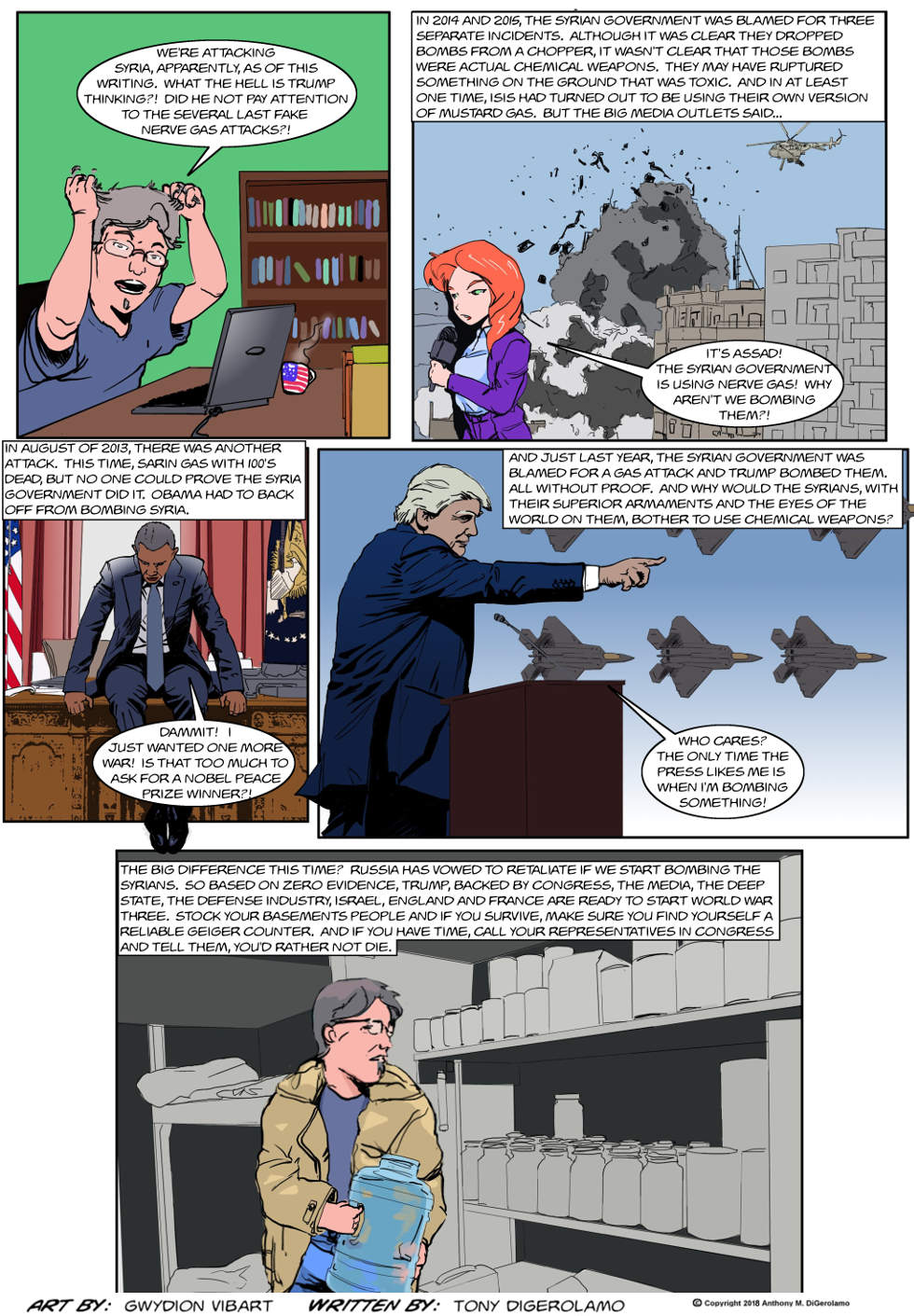 The Antiwar Comic:  The Syrian Forever War
