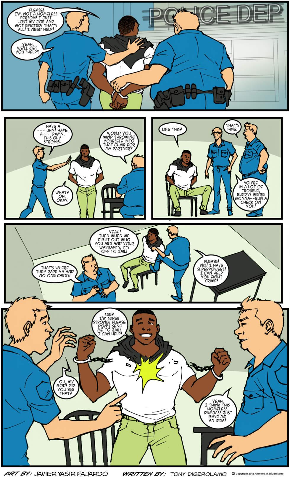 Herman Has Superpowers:  Bad Cop, Bad Cop