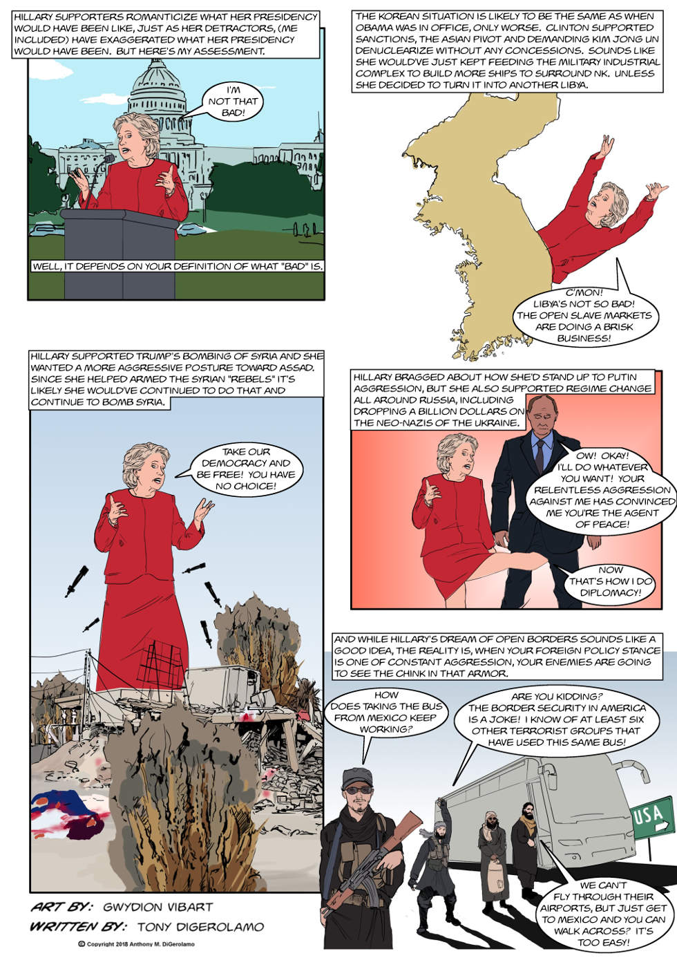 The Antiwar Comic:  President Hillary