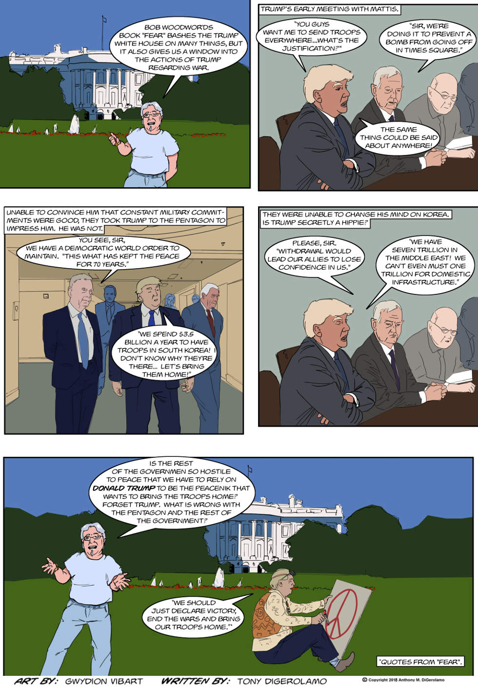 The Antiwar Comic:  President Hippie