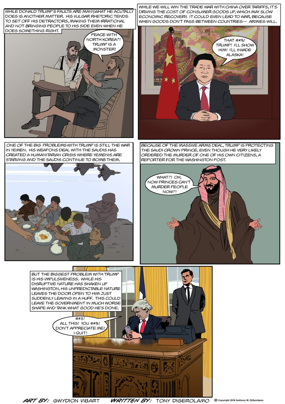 The Antiwar Comic:  Some Problems With Trump
