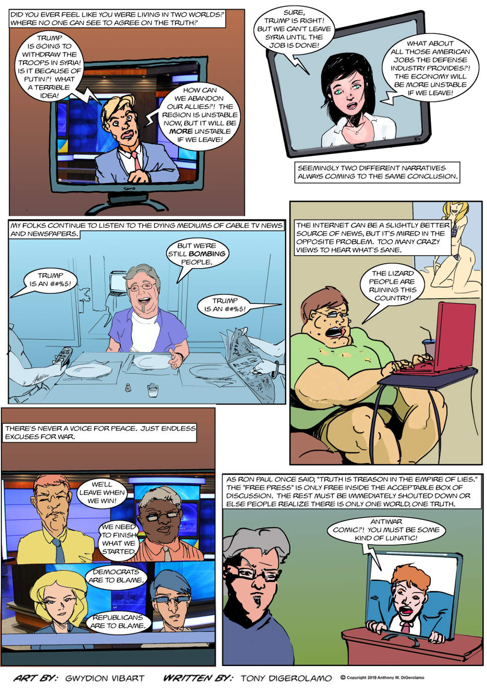 The Antiwar Comic:  Two Worlds, One Message