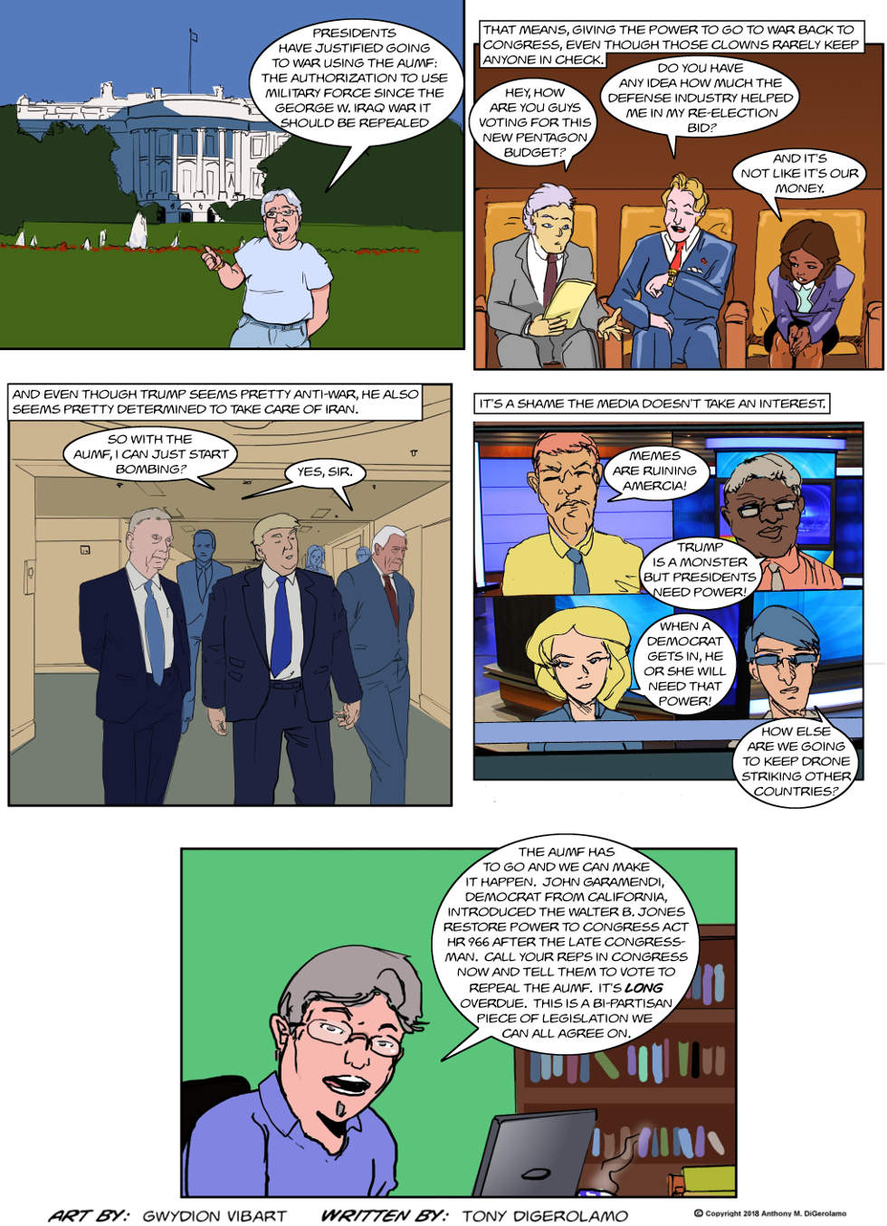The Antiwar Comic:  Repeal the AUMF