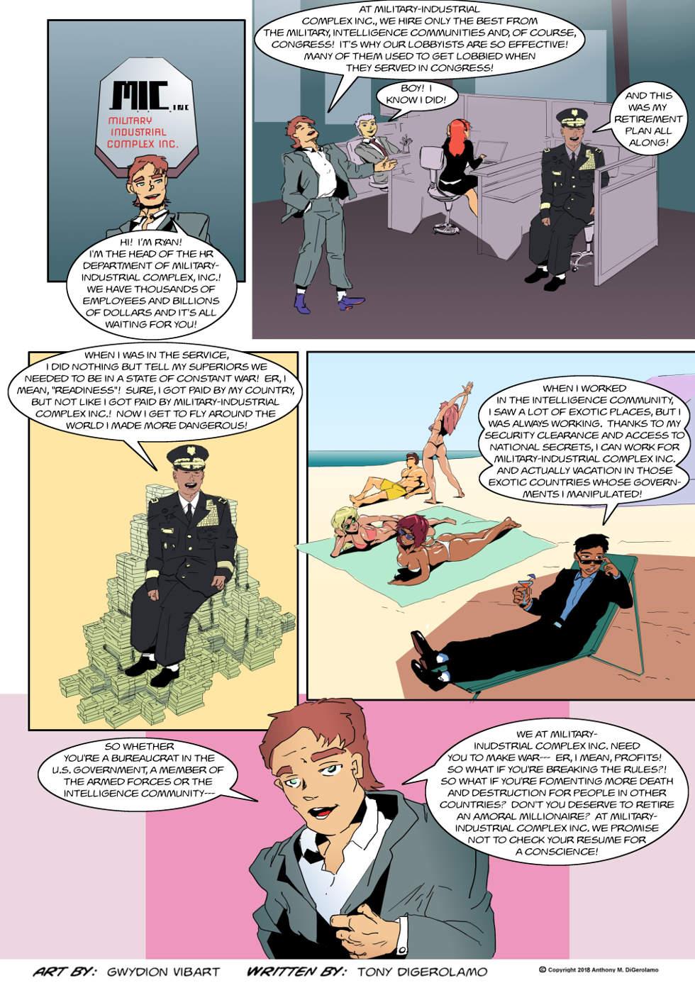 The Antiwar Comic:  Retire the MIC Way!