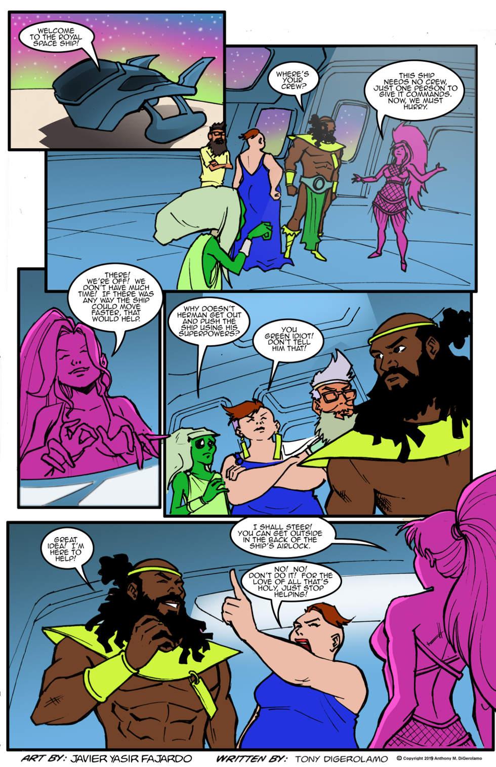 Herman Has Superpowers:  Spaceship Princess