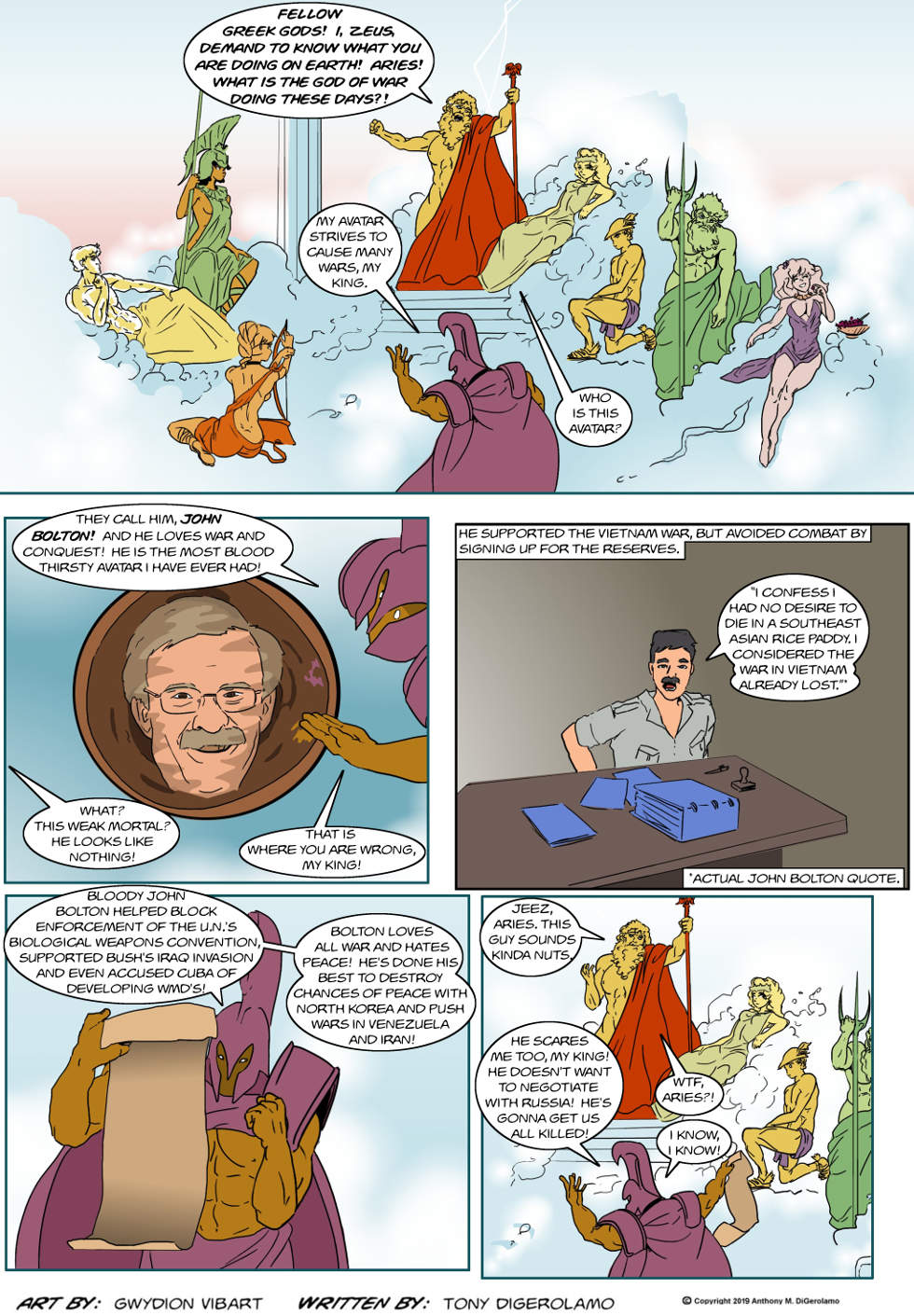 The Antiwar Comic:  The Avatar of Aries