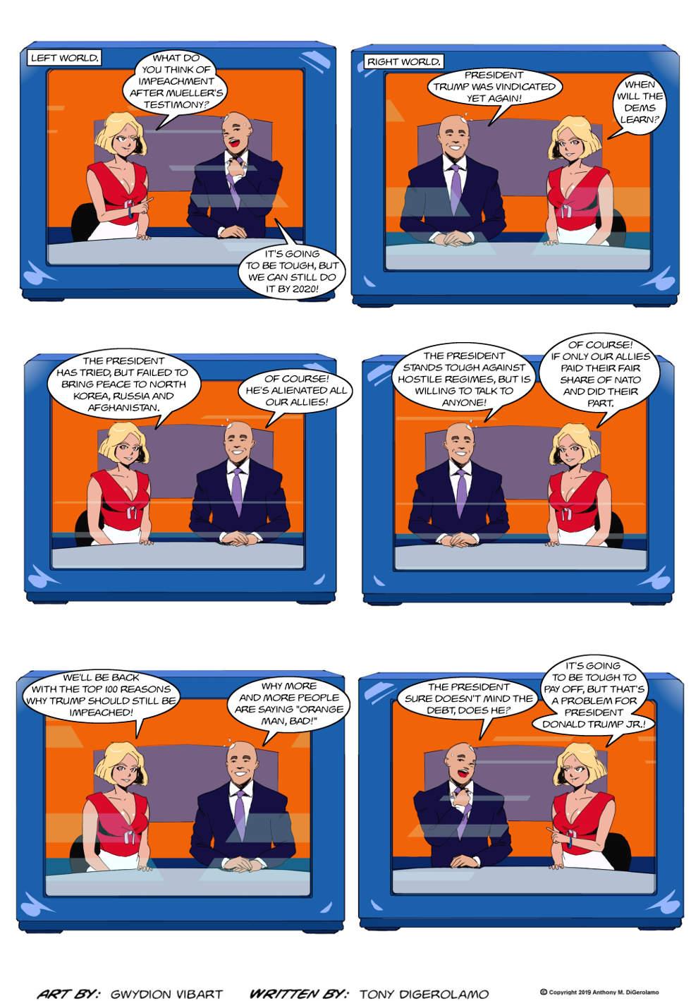 The Antiwar Comic:  Left World, Right World