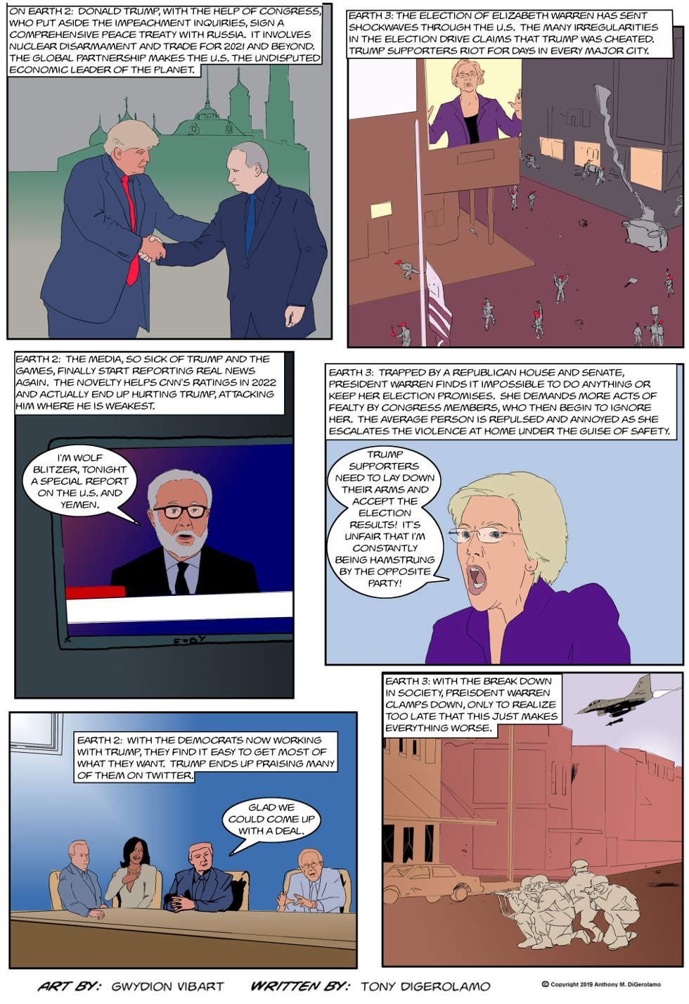 The Antiwar Comic:  Two Worlds