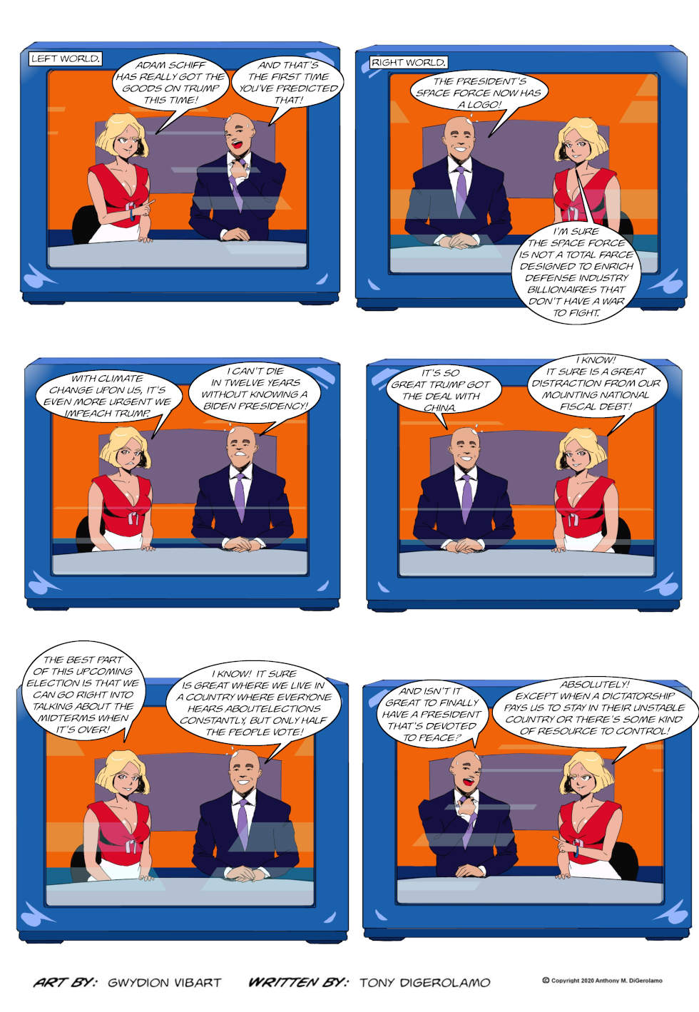 The Antiwar Comic:  Two Different Worlds, Same Politics