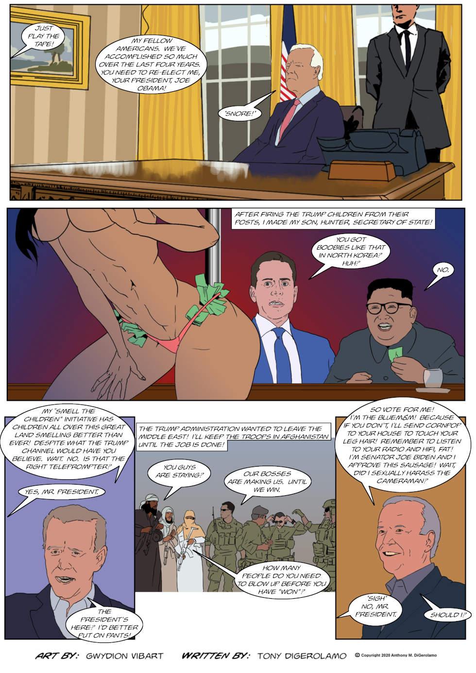 The Antiwar Comic:  Re-Electing Joe Biden