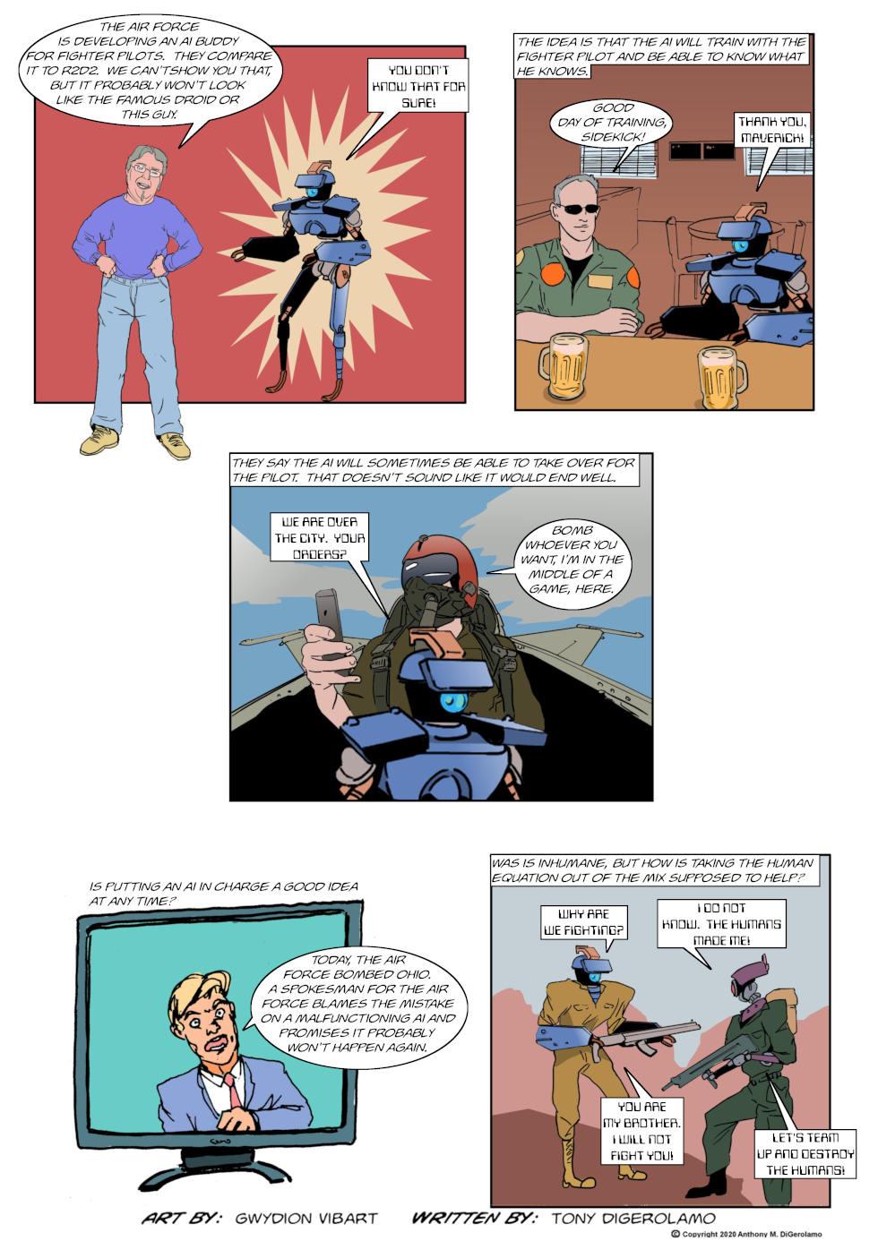 The Antiwar Comic:  The AI War