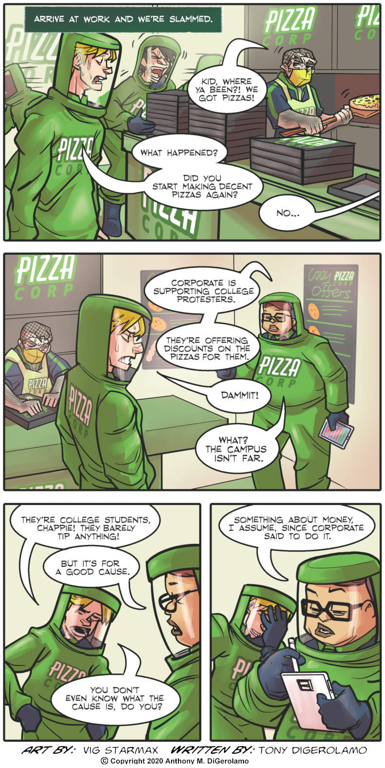 Tales of Pizza:  Orders at the College