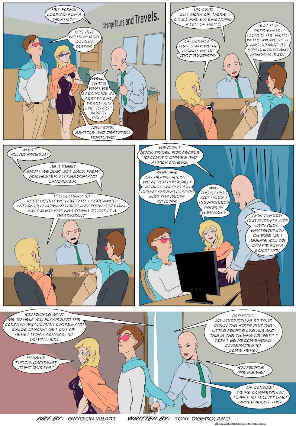 The Antiwar Comic:  The Tourists