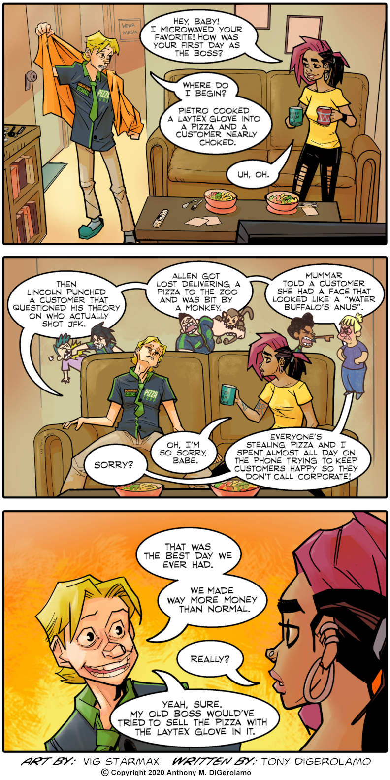 Tales of Pizza:  Being the Boss