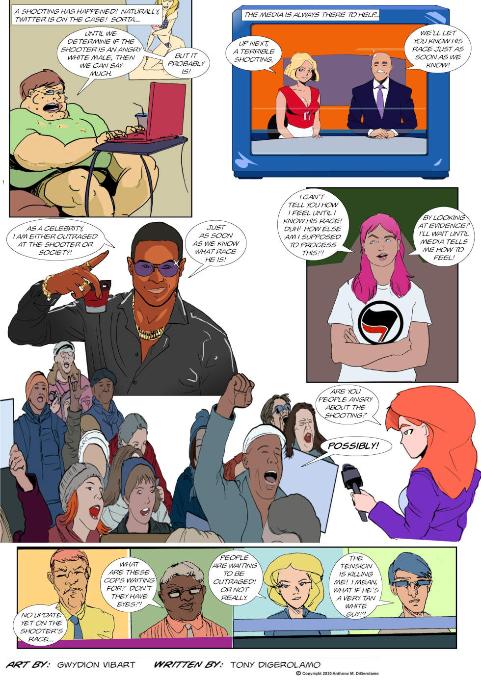The Antiwar Comic:  Waiting for the News