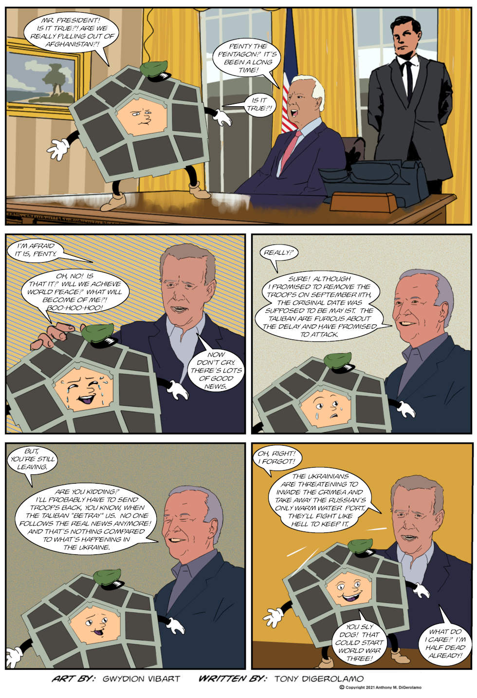 The Antiwar Comic: Don't Let the Pentagon Weep