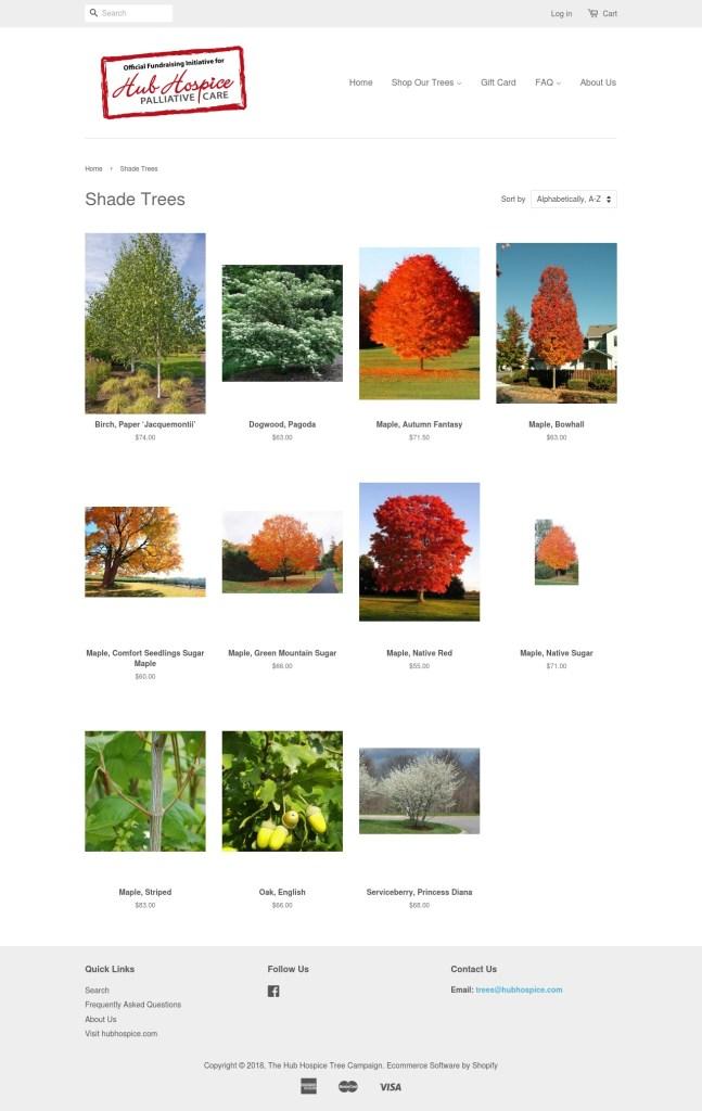 Hub Hospice Tree Sale Shade Trees 2018