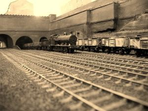 0-8-0 hauled freight train from Wapping Goods station