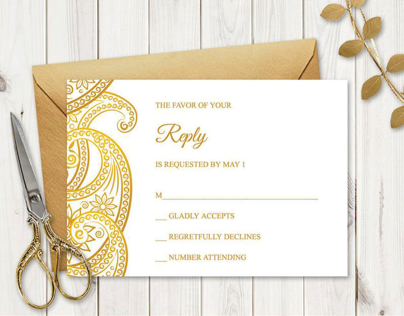 Order Indian Wedding RSVP Cards Online