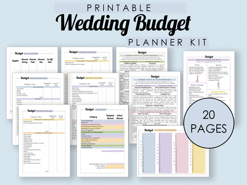 The Complete Guide To Wedding Binder Printables The