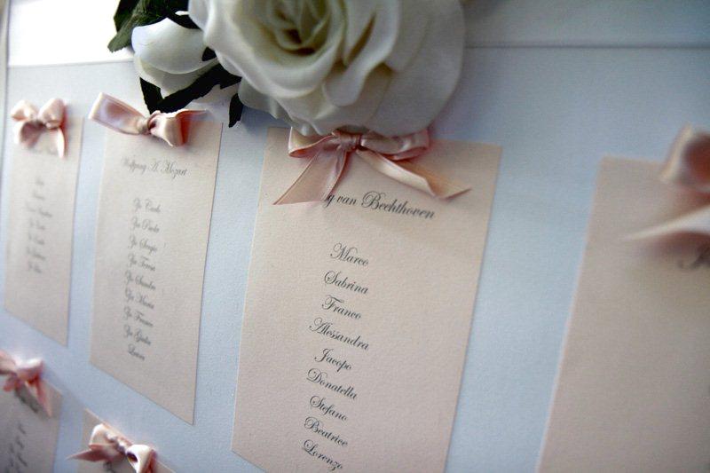 TABLEAU DE MARIAGE Completi con segnaposti e segnatavoli da scaricare online e stampare in