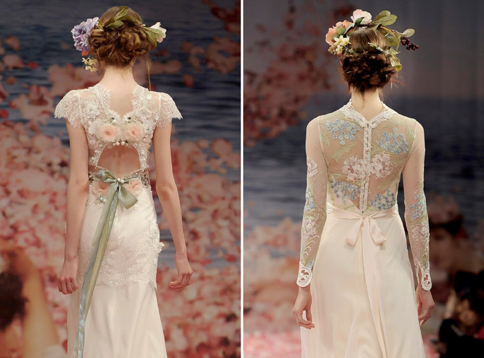 Beautiful back details. Claire Pettibone 2013 Fall Collection. www.theweddingnotebook.com