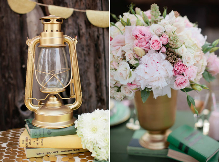 Gold details. Beau & Arrow Events. Photo by Swoon by Katie. www.theweddingnotebook.com