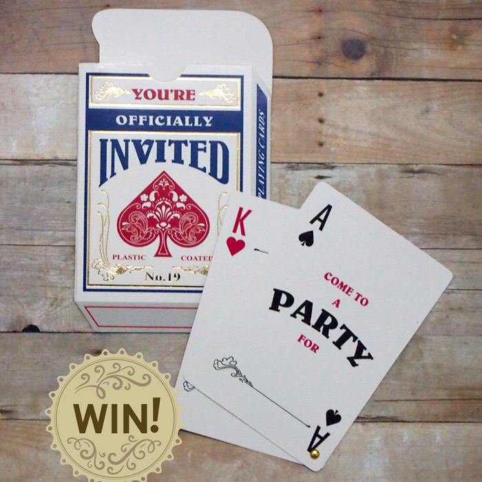 Wedding Invitation Giveaway: Casino-Themed Bachelor Party Invitations Giveaway (ended