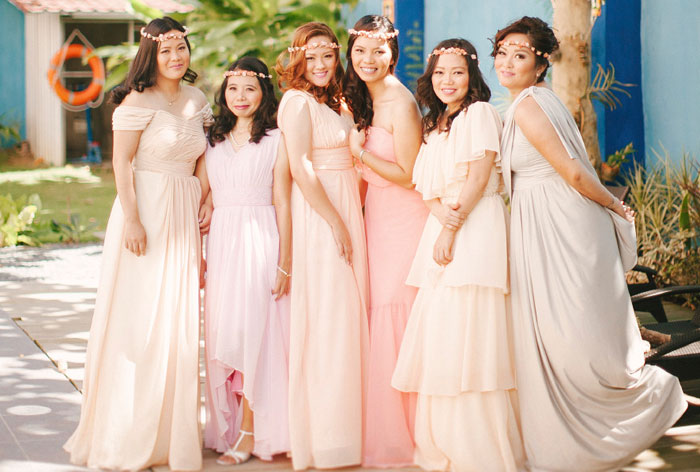 Bridesmaids' Dresses Roundup. Marlon Capuyan Photography. www.theweddingnotebook.com