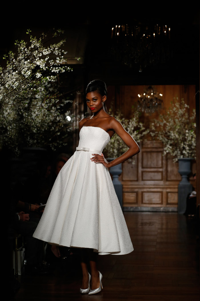 Romona Keveza Couture Spring 2014 Bridal Collection. www.theweddingnotebook.com. 1950's – Funny Face. The waltz-length dress was unique to this upbeat era and style icons like Audrey Hepburn