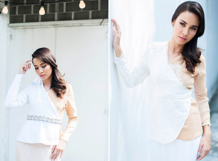 Thea Gown (left) and Tilu Gown (right) - Mimpikita 2014 Bridal Collection. www.theweddingnotebook.com