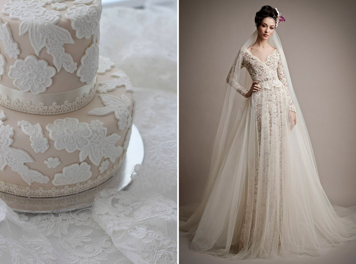 Left: Bisou Bake Shop; Right: Ersa Atelier. www.theweddingnotebook.com