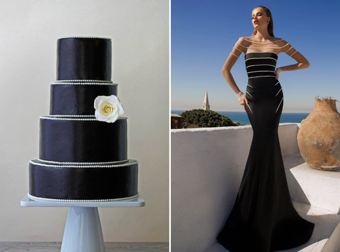 Left: Crummb Singapore; Right: Galia Lahav. www.theweddingnotebook.com